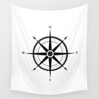 compass Wall Tapestries featuring Compass by Sofie Luyckx