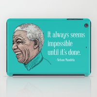 mandela iPad Cases featuring Mandela by Fortissimo6