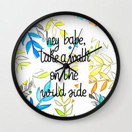 Hey babe Wall Clock