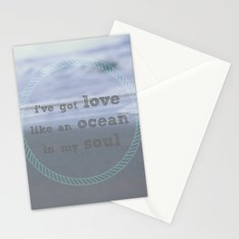 Love Like An Ocean Stationery Cards