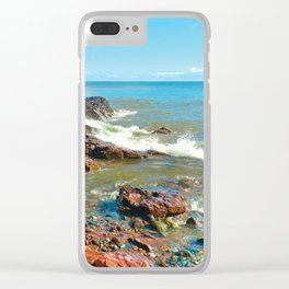 Rocky Shore 1 Clear iPhone Case