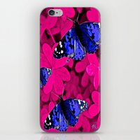 butterfly iPhone & iPod Skins featuring  Butterfly  by Saundra Myles