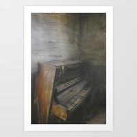 piano Art Prints featuring Piano by Claudia Ma