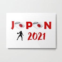 Handball team of Japan in Tokyo Metal Print