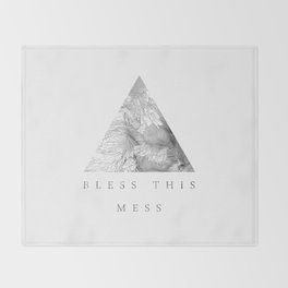 Bless this mess Throw Blanket