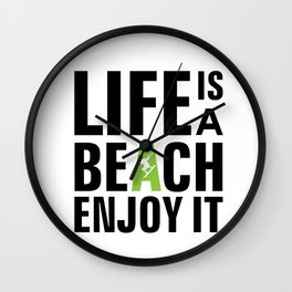 Kite surfing quote Wall Clock