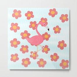 Fifi the flamingo Metal Print
