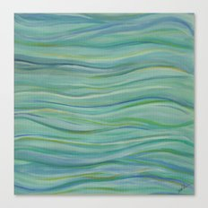 Abstract Turquoise Waves Canvas Print