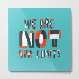 No Limit Metal Print