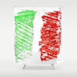 flag of Italia chalk 2- Italy,Italia,Italian,Latine,Roma,venezia,venice,mediterreanean,Genoa,firenze Shower Curtain