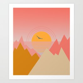 Minimal Sunset 2 Art Print