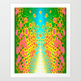 Engage Plasma Beam Art Print