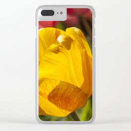 Yellow Tulip Photography Print Clear iPhone Case