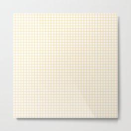 yellow graph paper Metal Print