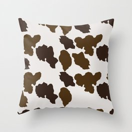 Cowhide Pattern Throw Pillow