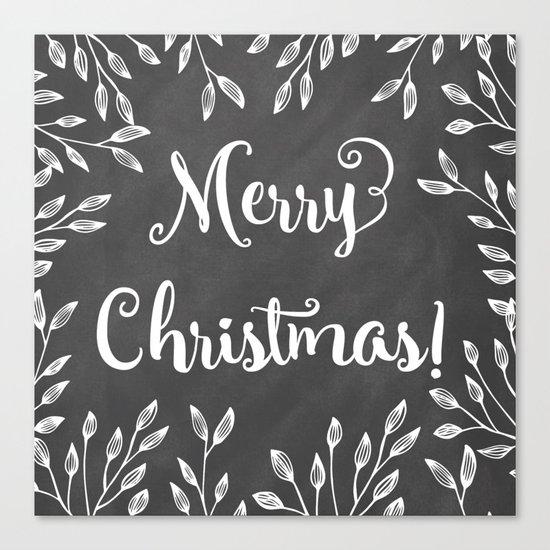 Monochrome Christmas Canvas Print
