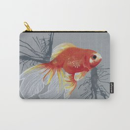 Orange Goldfish Carry-All Pouch