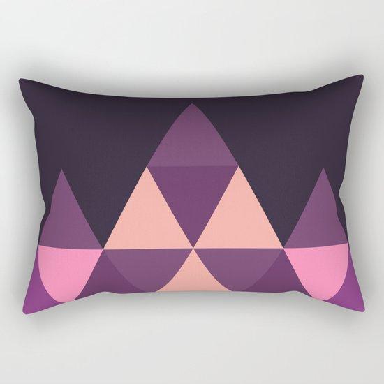 Geometric Pyramid Rectangular Pillow