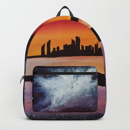 Abu Dhabi, watercolor Backpack
