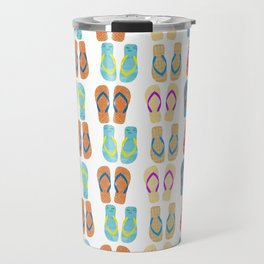 Summer Flip Flops Pattern Travel Mug