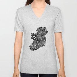 Typographic Ireland Unisex V-Neck