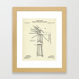 Improvement in Clothes Driers and Ironing Boards-1878 Framed Art Print