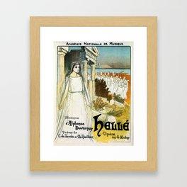 French opera ad Greek myth Helle 1896 Framed Art Print