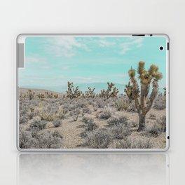 Teal Desert Sky // Cactus Landscape Photography Sierra Nevada USA Cloud Dusted Sky Laptop & iPad Skin