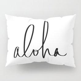 Aloha Hawaii Typography Pillow Sham