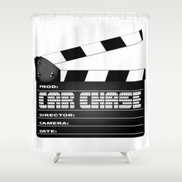 Car Chase Clapperboard Shower Curtain