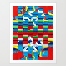 Saturated abstract Art Print