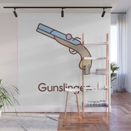 Cute Dungeons and Dragons Gunslinger class Wall Mural