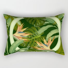 Circle in the Leaves Rectangular Pillow