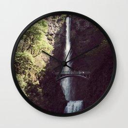 Multnomah Falls Waterfall - Nature Photography Wall Clock