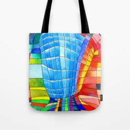 I go out with you(tube). You go out with me(ssenger)? Tote Bag