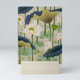 Lotus flowers F - Minhwa-Korean traditional/folk art Mini Art Print