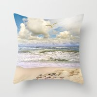paradise Throw Pillows featuring Paradise by RasaOm