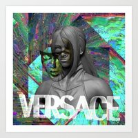 versace Art Prints featuring Versace by Panama Prince