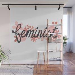 Feminist Flowers Wall Mural