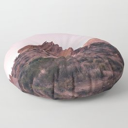 Desert Landscape at Magic Hour Floor Pillow