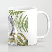 dinosaur Mugs featuring Dinosaur by Monica Giraldi