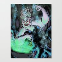 ursula Canvas Prints featuring Ursula by Iggycrypt