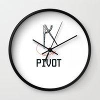pivot Wall Clocks featuring Pivot by Elijah Woolery