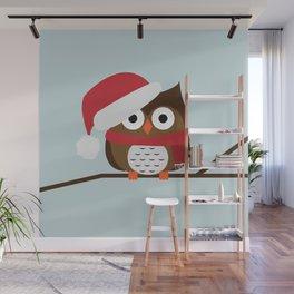 Christmas Owl Wall Mural