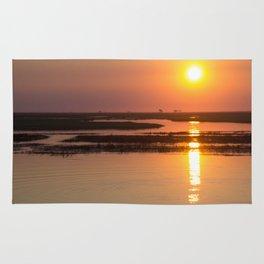 Sunset over the Okavango Delta Rug