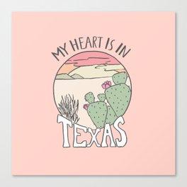 Heart in Texas Canvas Print