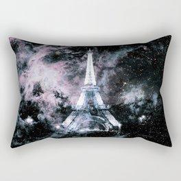 Paris Dreams Pale Pink & Blue Galaxy Rectangular Pillow