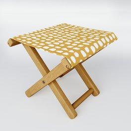 Dots / Mustard Folding Stool