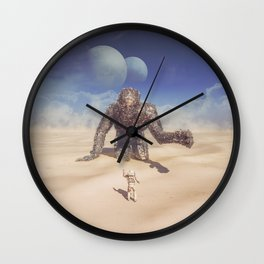 Wandering in the Desert Wall Clock