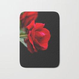 Red rose Bath Mat